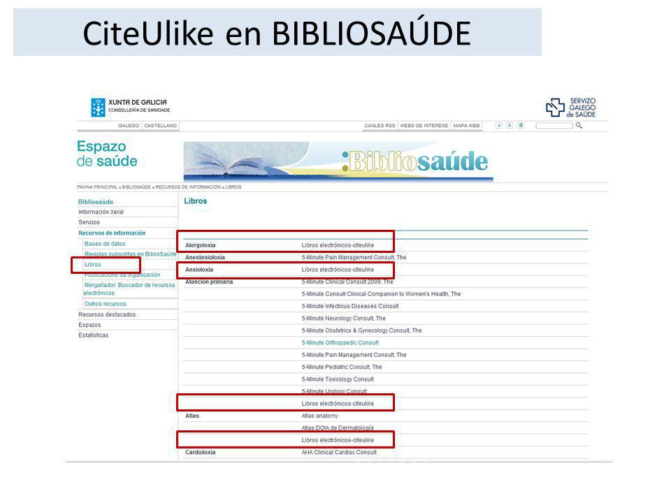 CiteUlike en BIBLIOSAÚDE