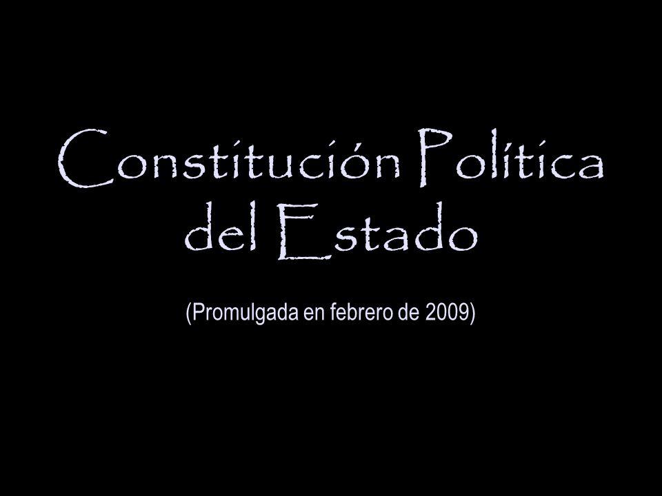 Constitución Política del Estado (Promulgada en febrero de 2009)