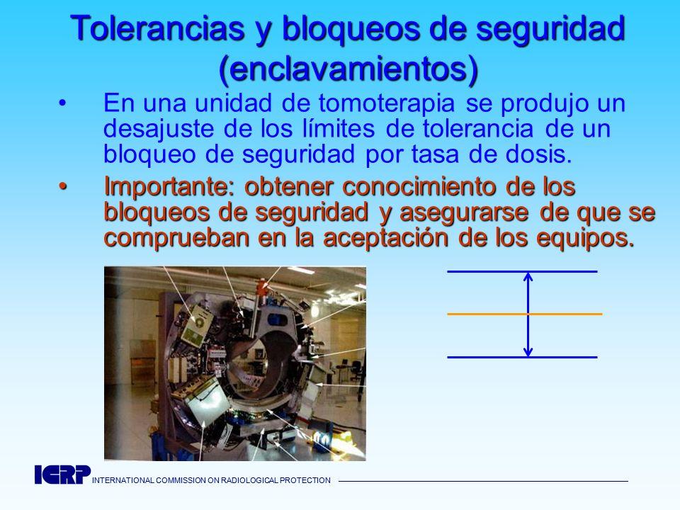 INTERNATIONAL COMMISSION ON RADIOLOGICAL PROTECTION INTERNATIONAL COMMISSION ON RADIOLOGICAL PROTECTION Tolerancias y bloqueos de seguridad (enclavami
