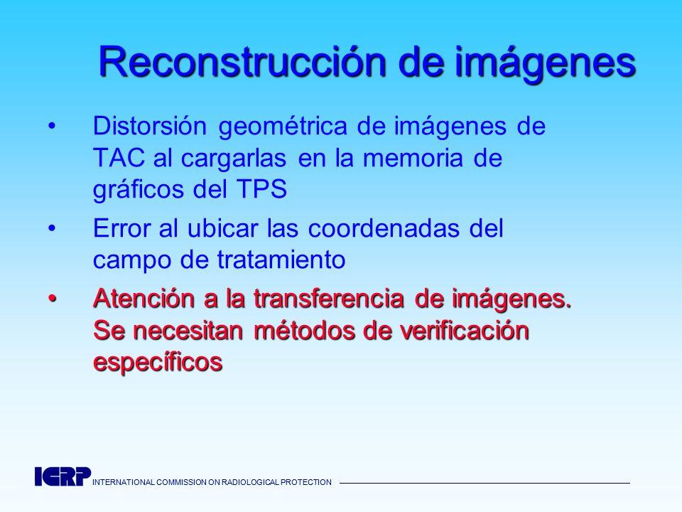 INTERNATIONAL COMMISSION ON RADIOLOGICAL PROTECTION INTERNATIONAL COMMISSION ON RADIOLOGICAL PROTECTION Reconstrucción de imágenes Distorsión geométri