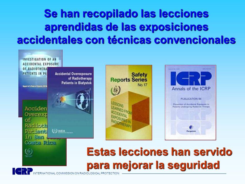 INTERNATIONAL COMMISSION ON RADIOLOGICAL PROTECTION Se han recopilado las lecciones aprendidas de las exposiciones accidentales con técnicas convencio