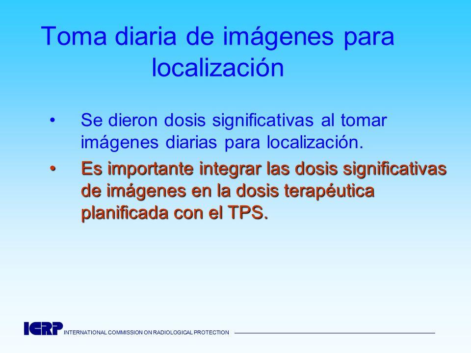 INTERNATIONAL COMMISSION ON RADIOLOGICAL PROTECTION INTERNATIONAL COMMISSION ON RADIOLOGICAL PROTECTION Toma diaria de imágenes para localización Se d