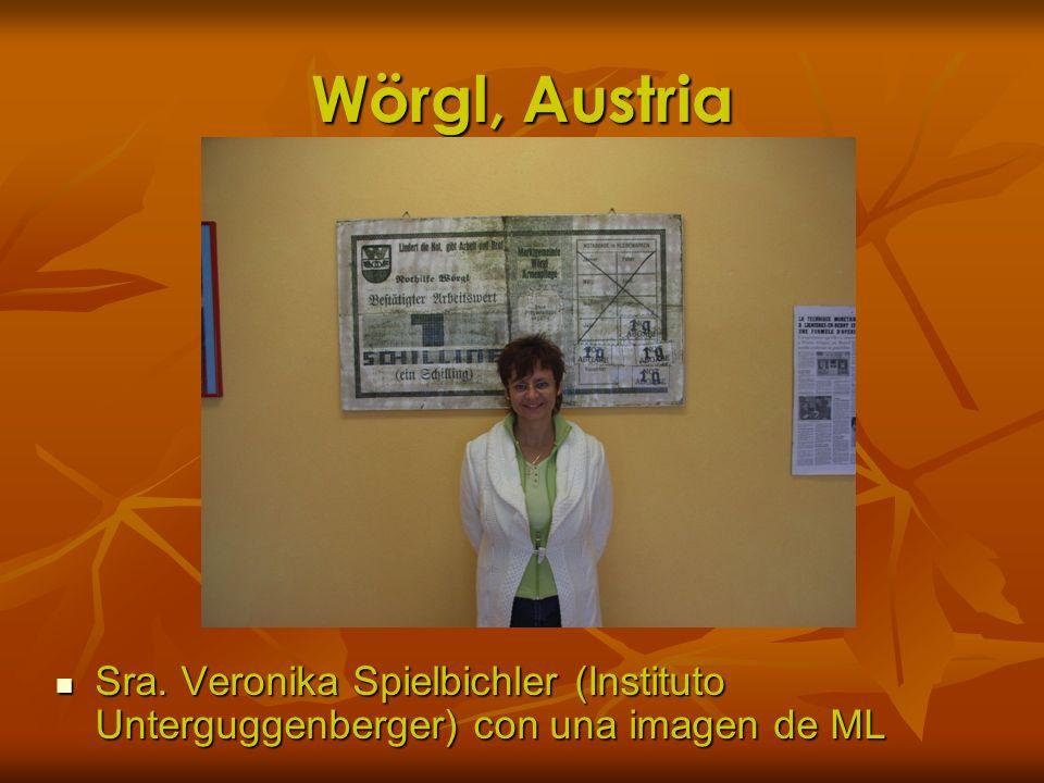 Wörgl, Austria Sra. Veronika Spielbichler (Instituto Unterguggenberger) con una imagen de ML Sra. Veronika Spielbichler (Instituto Unterguggenberger)