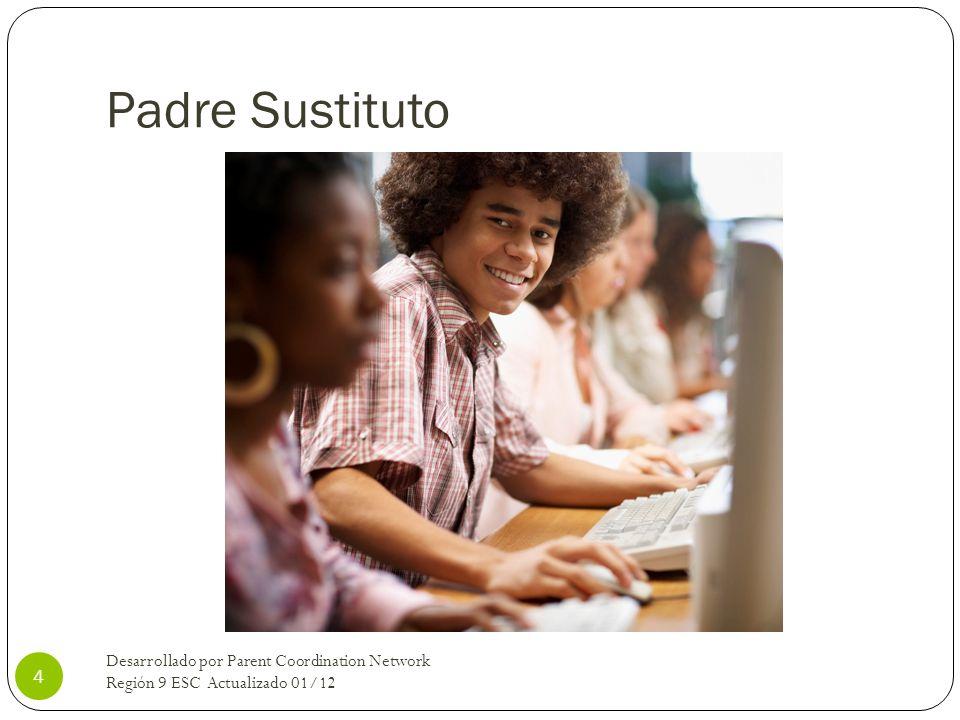 Padre Sustituto Desarrollado por Parent Coordination Network Región 9 ESC Actualizado 01/12 4