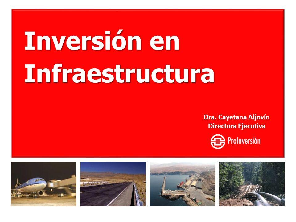 Inversión en Infraestructura Dra. Cayetana Aljovín Directora Ejecutiva