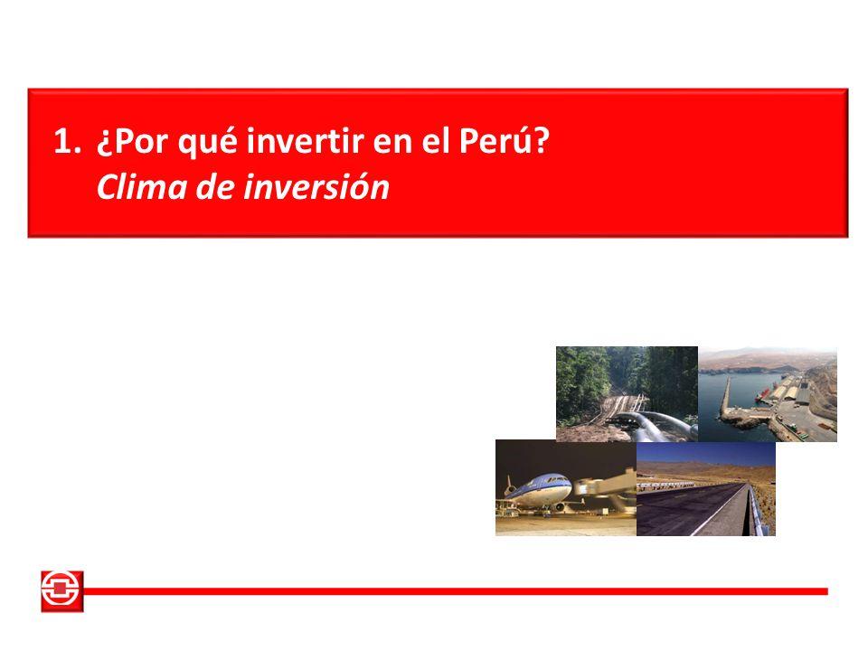 1.¿Por qué invertir en el Perú? Clima de inversión