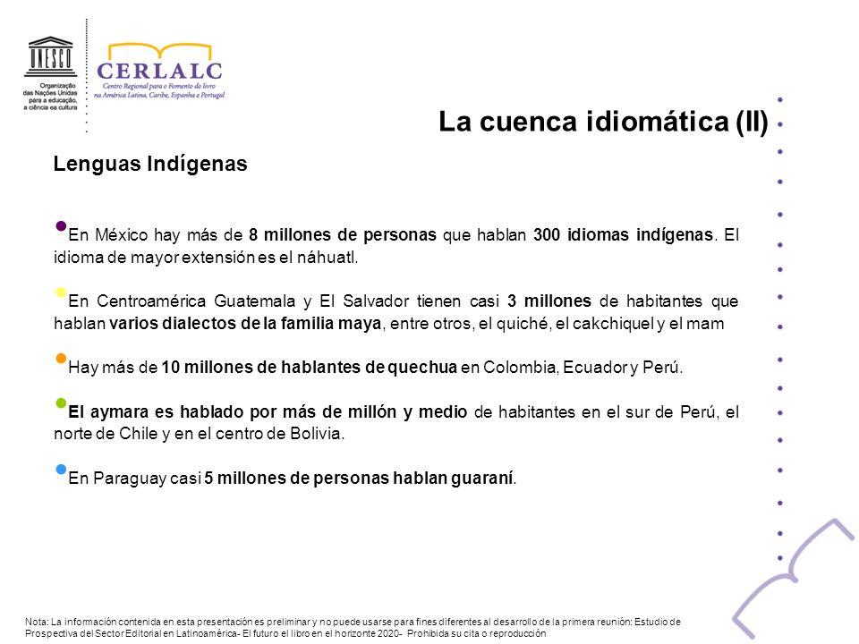En México hay más de 8 millones de personas que hablan 300 idiomas indígenas. El idioma de mayor extensión es el náhuatl. En Centroamérica Guatemala y