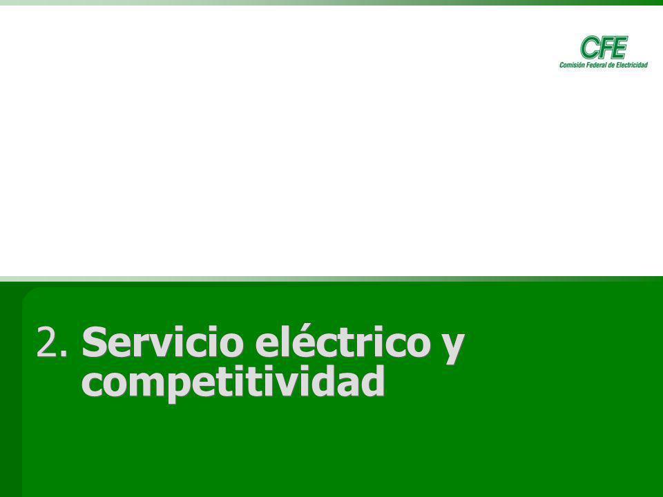 12 2. Servicio eléctrico y competitividad