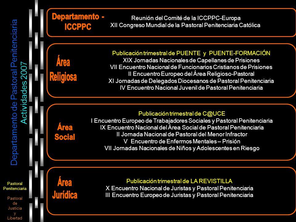 Pastoral Penitenciaria Pastoral de Justicia y Libertad Departamento de Pastoral Penitenciaria Actividades 2007 Publicación trimestral de PUENTE y PUEN
