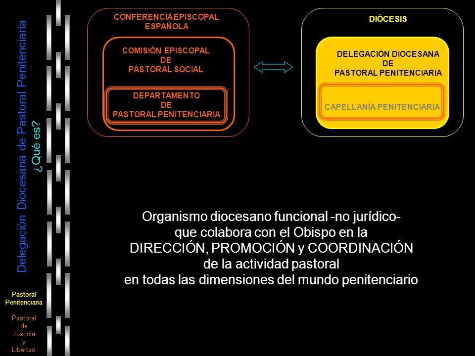 Pastoral Penitenciaria Pastoral de Justicia y Libertad Delegación Diocesana de Pastoral Penitenciaria ¿Qué es? DELEGACIÓN DIOCESANA DE PASTORAL PENITE