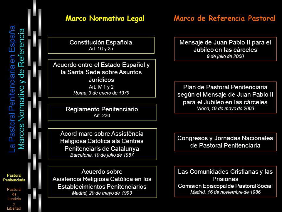 Pastoral Penitenciaria Pastoral de Justicia y Libertad La Pastoral Penitenciaria en España Marcos Normativo y de Referencia Marco Normativo LegalMarco