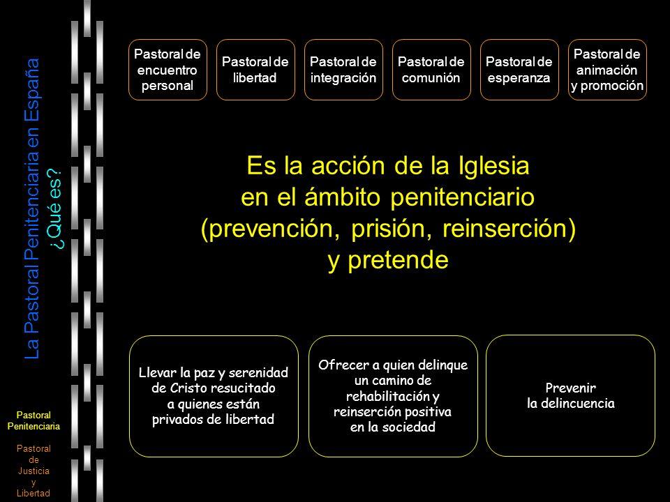 Pastoral Penitenciaria Pastoral de Justicia y Libertad La Pastoral Penitenciaria en España Destinatarios Prisión A modo indicativo y a la espera de lograr datos estatales actualizados, se ofrece el número de personas que fueron detenidas en Barcelona los años 1991 y 2004 (Cf.
