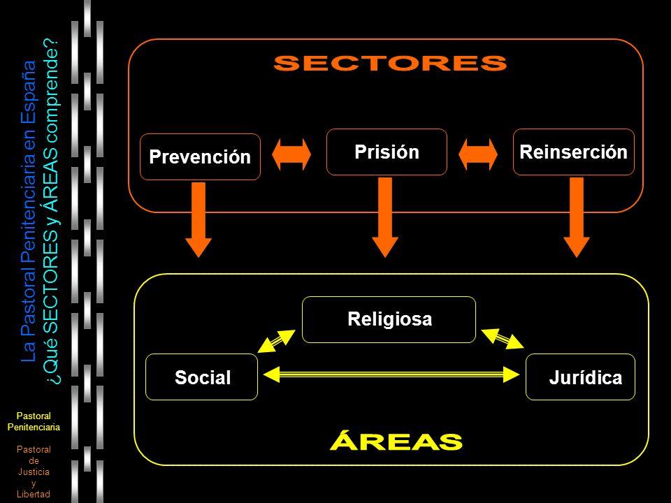 Pastoral Penitenciaria Pastoral de Justicia y Libertad La Pastoral Penitenciaria en España ¿Qué SECTORES y ÁREAS comprende? Prevención PrisiónReinserc