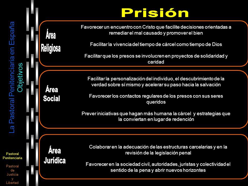 Pastoral Penitenciaria Pastoral de Justicia y Libertad La Pastoral Penitenciaria en España Objetivos Favorecer un encuentro con Cristo que facilite de