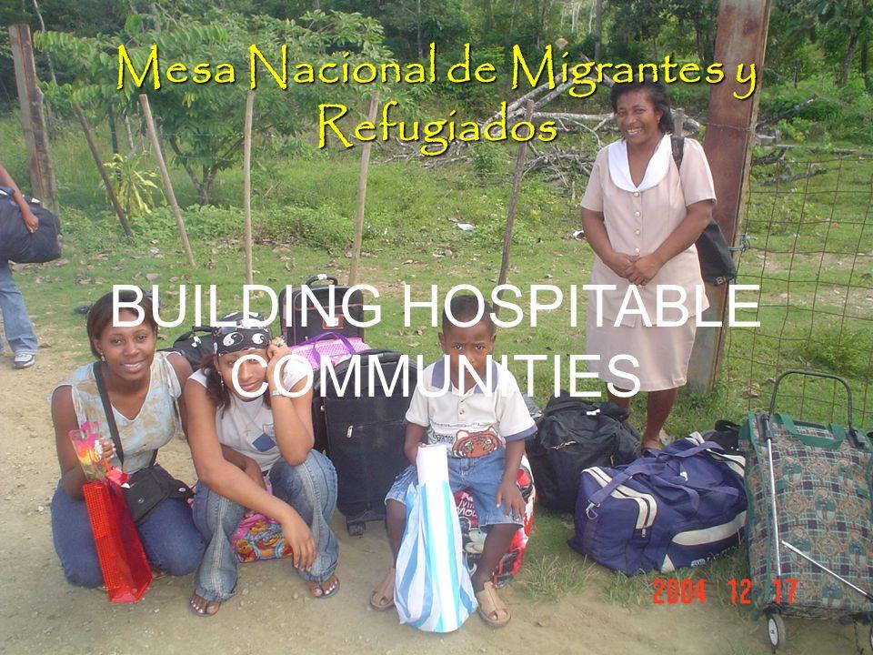 Mesa Nacional de Migrantes y Refugiados BUILDING HOSPITABLE COMMUNITIES