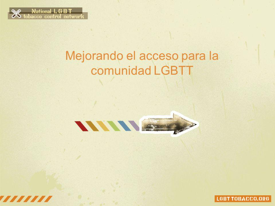 Mejorando el acceso para la comunidad LGBTT