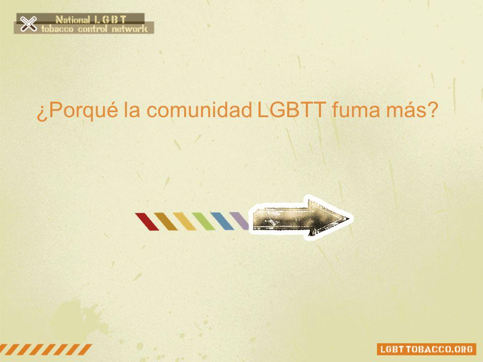 ¿Porqué la comunidad LGBTT fuma más?