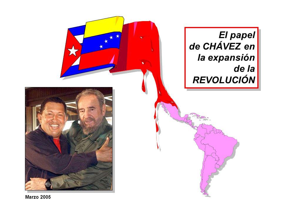 El papel de CHÁVEZ en la expansión de la REVOLUCIÓN El papel de CHÁVEZ en la expansión de la REVOLUCIÓN Marzo 2005