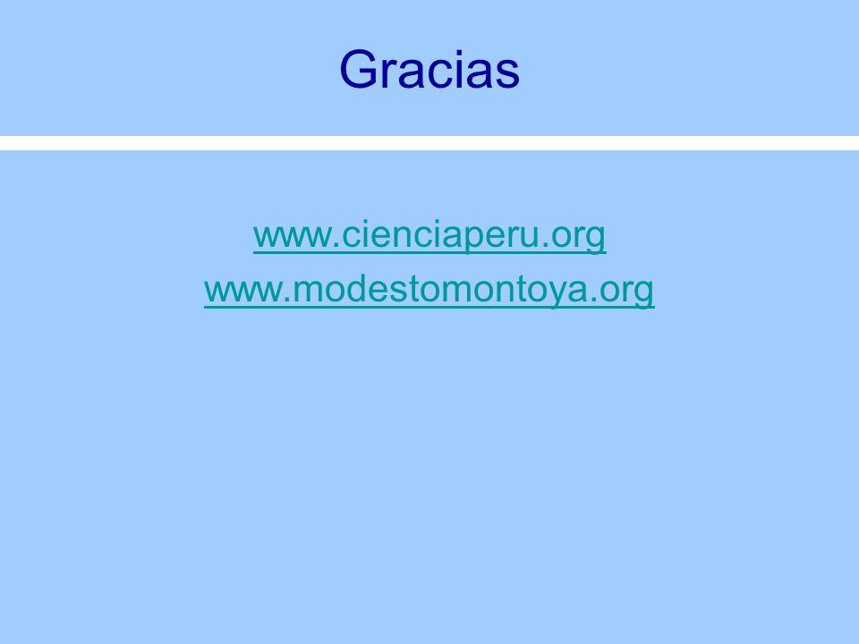 Gracias www.cienciaperu.org www.modestomontoya.org