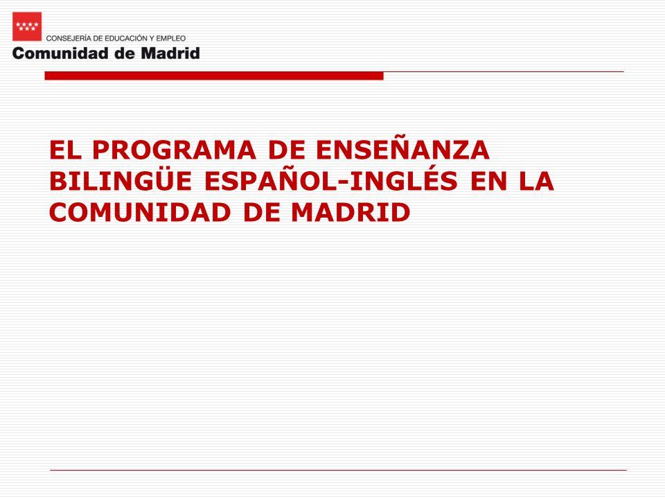 EL PROGRAMA DE ENSEÑANZA BILINGÜE ESPAÑOL-INGLÉS EN LA COMUNIDAD DE MADRID