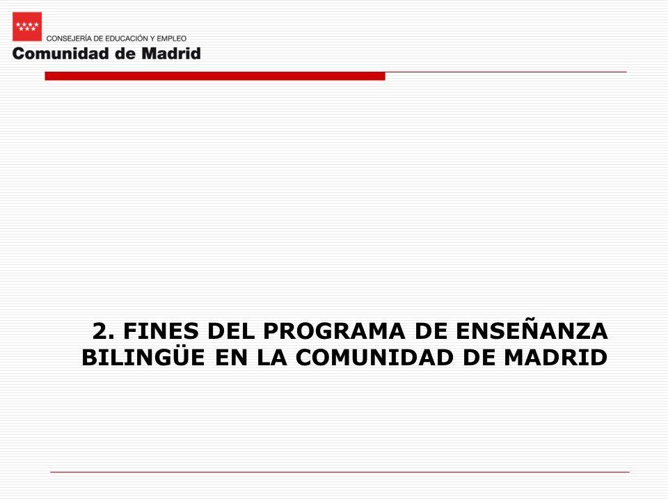 2. FINES DEL PROGRAMA DE ENSEÑANZA BILINGÜE EN LA COMUNIDAD DE MADRID