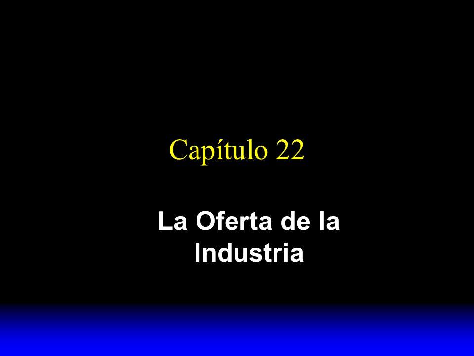 Capítulo 22 La Oferta de la Industria