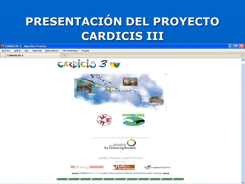 Objetivos del proyecto CARDICIS III PREOCUPARSE POR LOS RETOS DE LA RECONSTRUCCIÓN