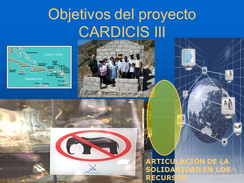 Objetivos del proyecto CARDICIS III ARTICULACIÓN DE LA SOLIDARIDAD EN LOS RECURSOS QUI A PRIS LA MANIVELLE ?