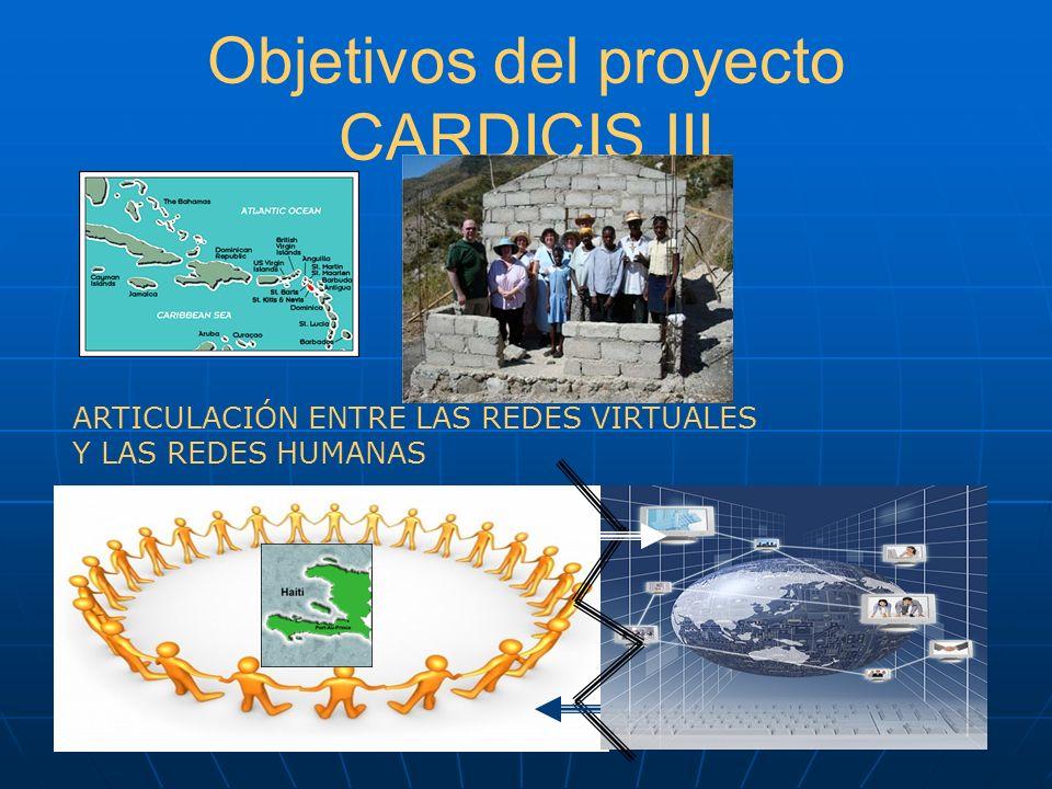 Objetivos del proyecto CARDICIS III ARTICULACIÓN ENTRE LAS REDES VIRTUALES Y LAS REDES HUMANAS