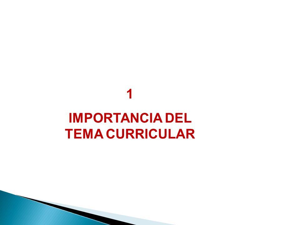 1 IMPORTANCIA DEL TEMA CURRICULAR