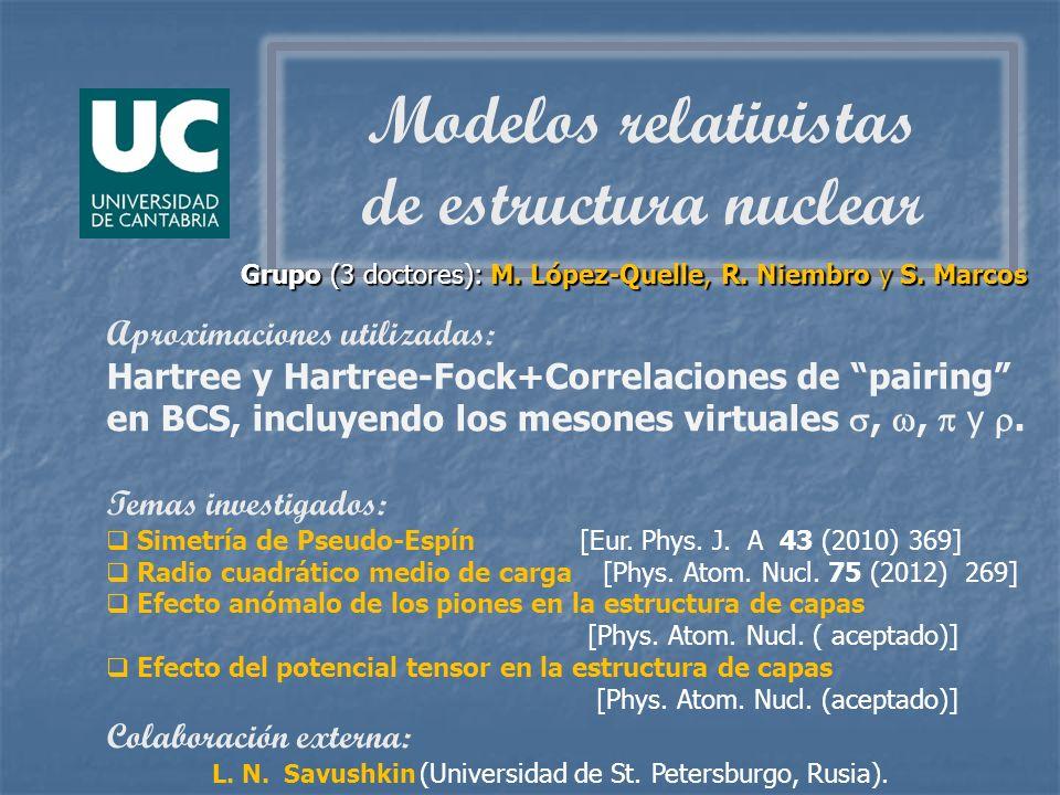 Grupo (3 doctores): M. López-Quelle, R. Niembro y S. Marcos Grupo (3 doctores): M. López-Quelle, R. Niembro y S. Marcos Aproximaciones utilizadas: Har