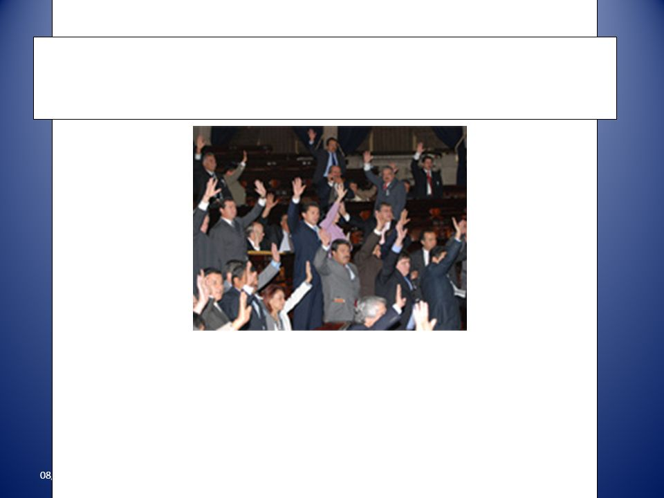 08/22/2011 1- Mayoría simple, la mitad de los diputados más 1 2- Mayoría calificada, dos terceras partes de los diputados Como se aprueban las leyes?