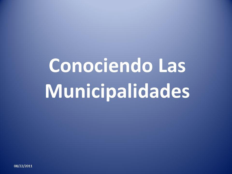 Conociendo Las Municipalidades