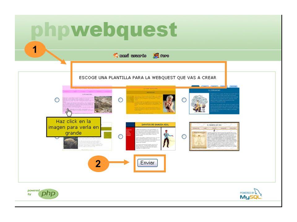 Si eliges las opciones de completar o editar, irás a esta página de diseño de plantilla.