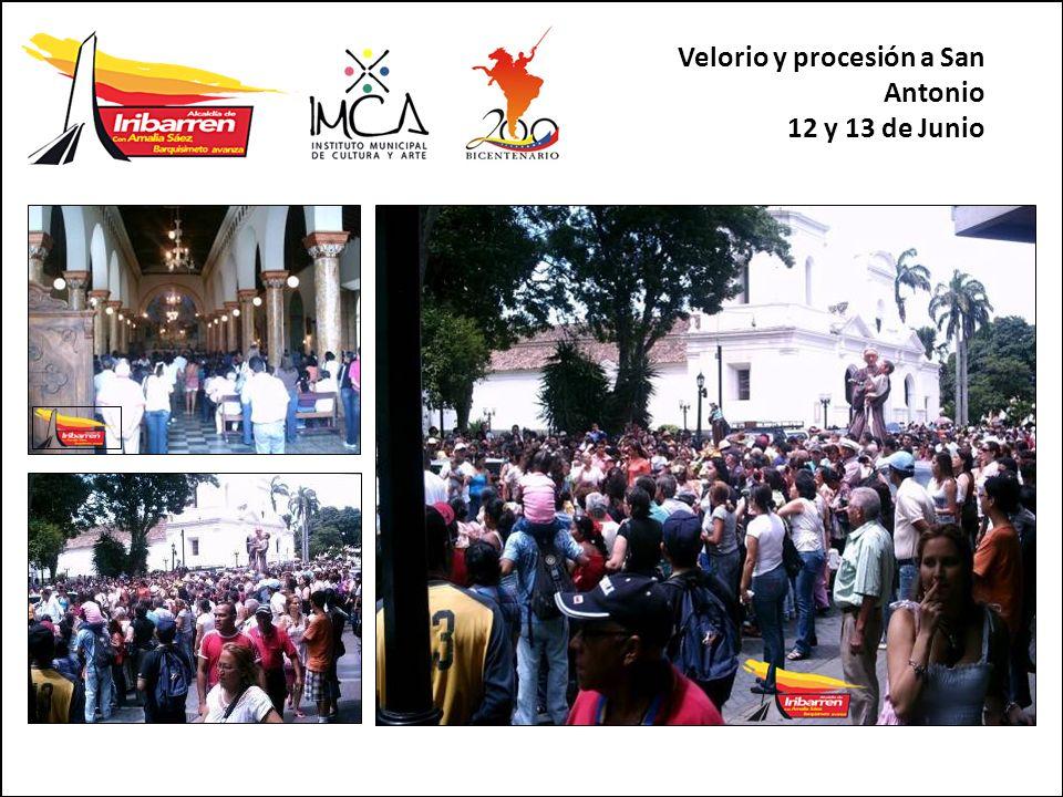 Velorio y procesión a San Antonio 12 y 13 de Junio