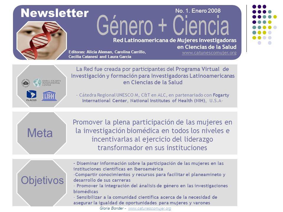 Red Latinoamericana de Mujeres investigadoras en Ciencias de la Salud www.catunescomujer.org La Red fue creada por participantes del Programa Virtual