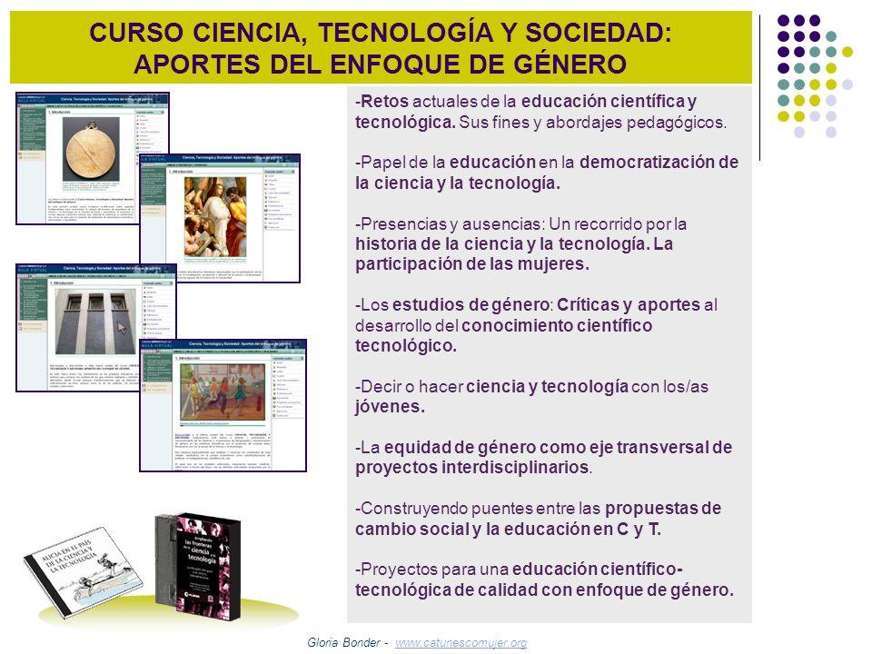 CURSO CIENCIA, TECNOLOGÍA Y SOCIEDAD: APORTES DEL ENFOQUE DE GÉNERO -Retos actuales de la educación científica y tecnológica. Sus fines y abordajes pe