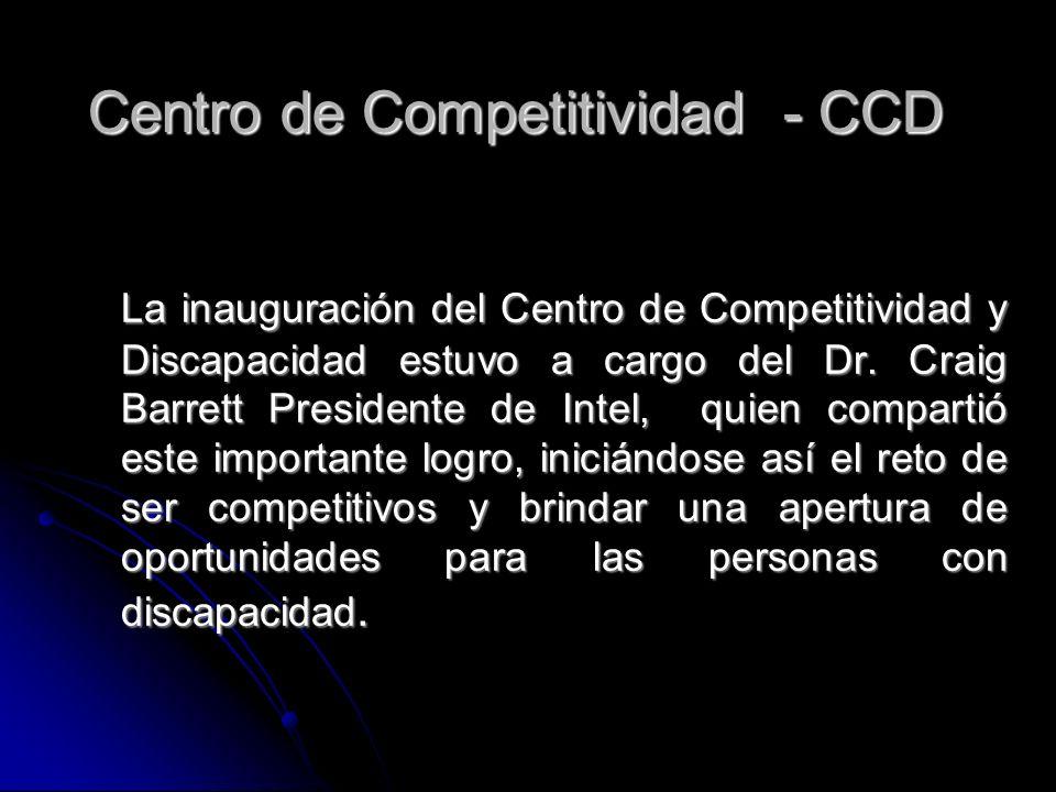 La inauguración del Centro de Competitividad y Discapacidad estuvo a cargo del Dr. Craig Barrett Presidente de Intel, quien compartió este importante