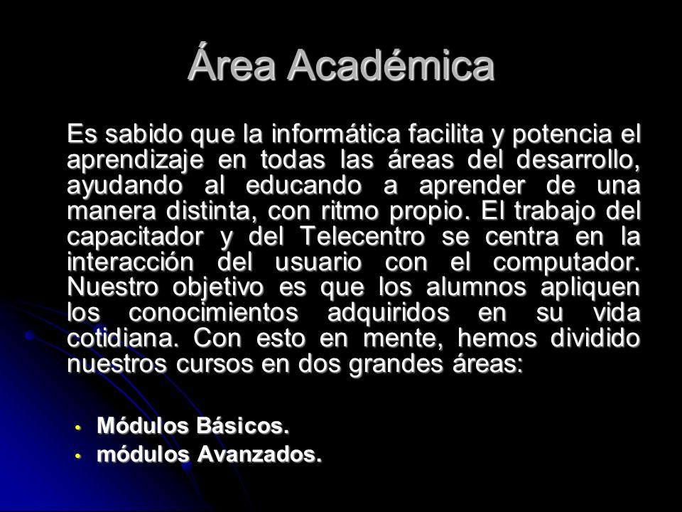 Módulos Académicos 1.Cursos Básicos: Introducción a la Informática.