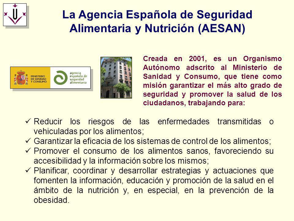 La Agencia Española de Seguridad Alimentaria y Nutrición (AESAN) Reducir los riesgos de las enfermedades transmitidas o vehiculadas por los alimentos;