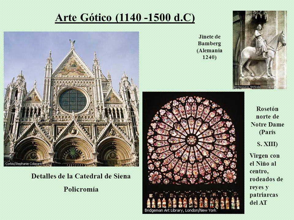 Transición del Románico al Gótico Arte Gótico (1140 -1500 d.C) Catedral de Chartres, Fra (S. XIII): Una de las más imponentes Anunciación de Crivelli