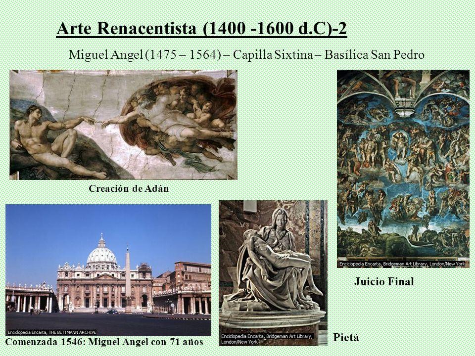 Arte Renacentista (1400 -1600 d.C) Virgen con el Niño Monje Filippo Lippi (1455) Bautis mo de Cristo Pietro della Franc esca Perspe ctiva Más represen