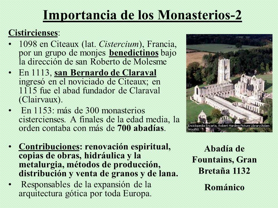 Se copian grandes obras de la antigüedad clásica (griega y romana) y preservan de destrucción de pueblos bárbaros del norte. Miles de monasterios bene