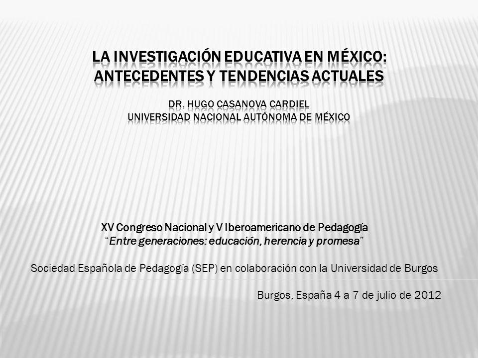 XV Congreso Nacional y V Iberoamericano de Pedagogía Entre generaciones: educación, herencia y promesa Sociedad Española de Pedagogía (SEP) en colabor