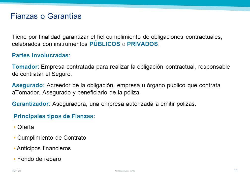 Sección # 2 PRINCIPALES COBERTURAS DE SEGUROS