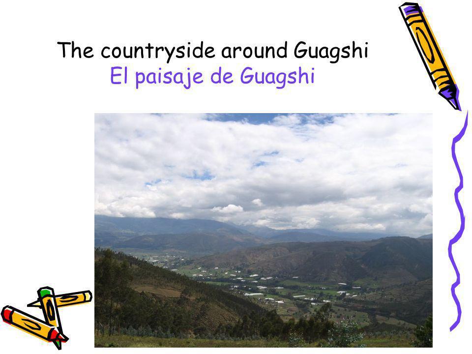 The countryside around Guagshi El paisaje de Guagshi
