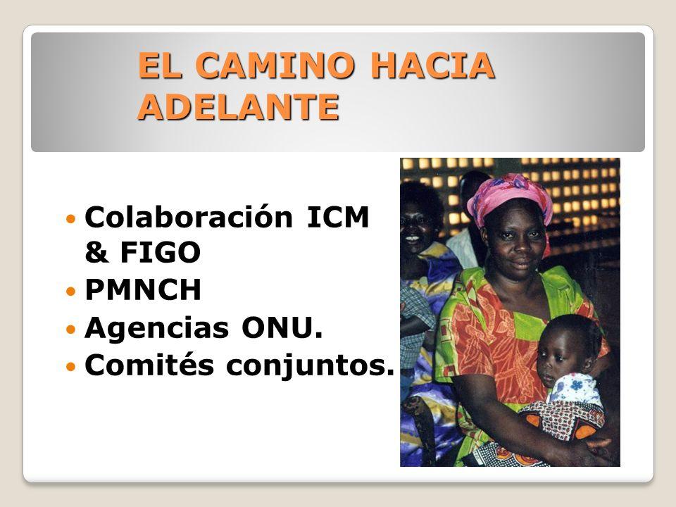EL CAMINO HACIA ADELANTE Colaboración ICM & FIGO PMNCH Agencias ONU. Comités conjuntos.