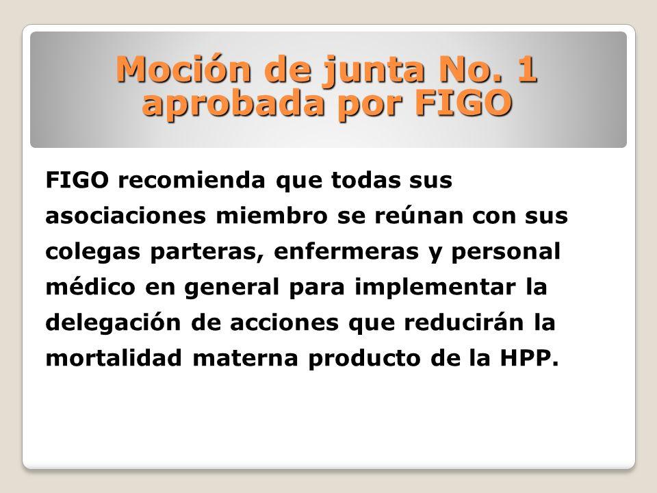 FIGO recomienda que todas sus asociaciones miembro se reúnan con sus colegas parteras, enfermeras y personal médico en general para implementar la del