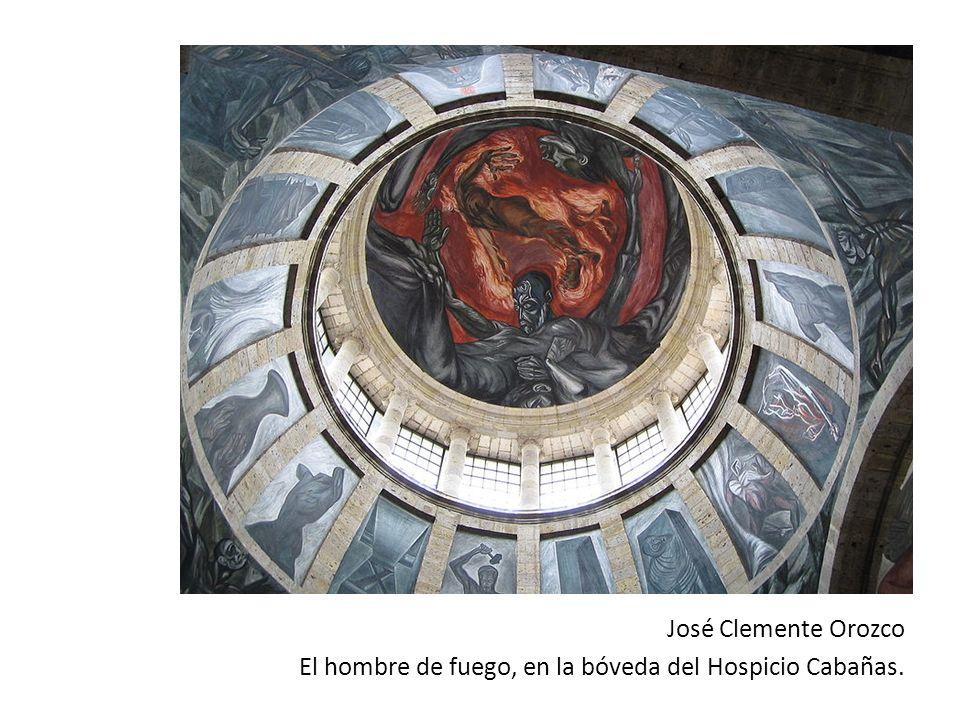 José Clemente Orozco El hombre de fuego, en la bóveda del Hospicio Cabañas.