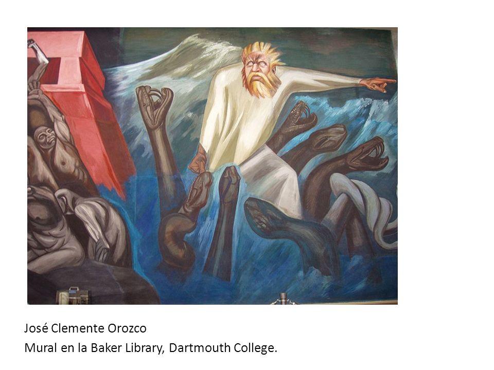 José Clemente Orozco Mural en la Baker Library, Dartmouth College.